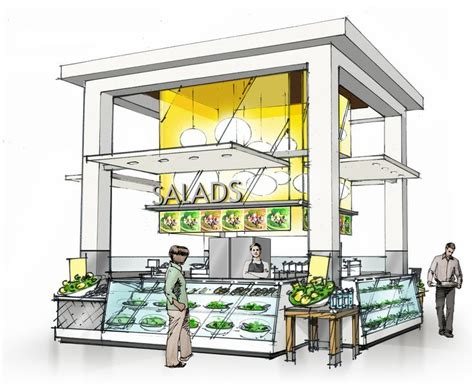food court kiosk design color sketches by jonathan knodell at coroflot com