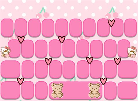 wallpaper keyboard cute free kitty girl go keyboard skins android themes