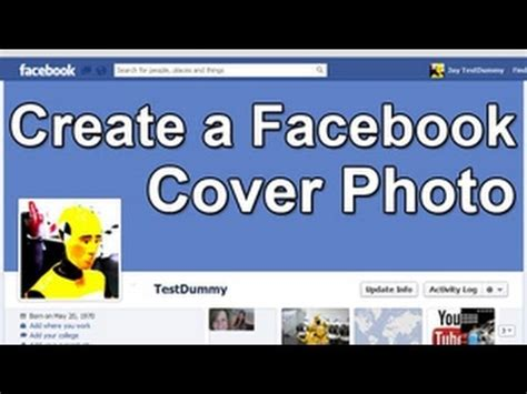 photoshop tutorial easily create a cover photo banner cover photo dimensions