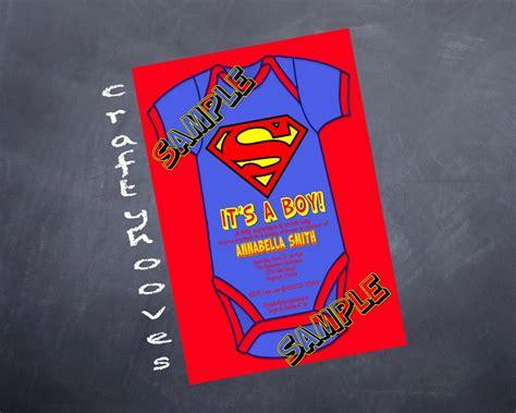 Superman Invitations For Boys Superman Baby Shower Invitation Template