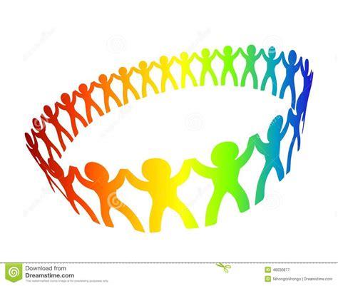 clipart amicizia cerchio di amicizia illustrazione vettoriale