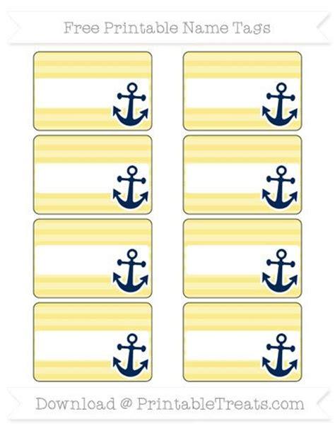 nautical names free pastel yellow horizontal striped nautical name tags nautical theme printables