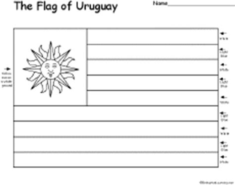 flag of uruguay printout enchantedlearning com