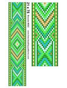 seed bead loom bracelet 002 full