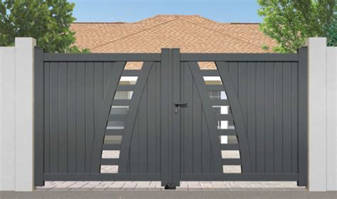 Modern Style Home Plans by Contemporary Aluminium Gates
