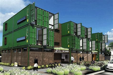 Shipping Container Apartments For 1 000 Residents Can Live In A Shipping Container Apartment