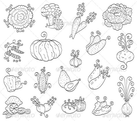 printable templates of vegetables best photos of fruit and vegetable templates cornucopia