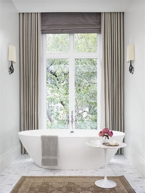 Modern Bathroom Window Treatment Ideas Modern Bathroom Window Curtain Designs Interior Design