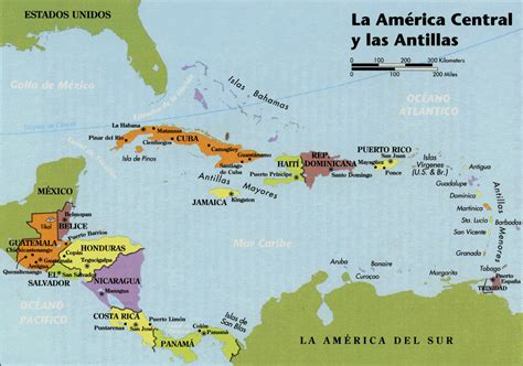 mapa america central y antillas web resources maps