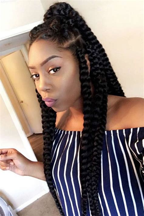 jumbo braids hairstyles for black women 42 chunky cool jumbo box braids styles in every length