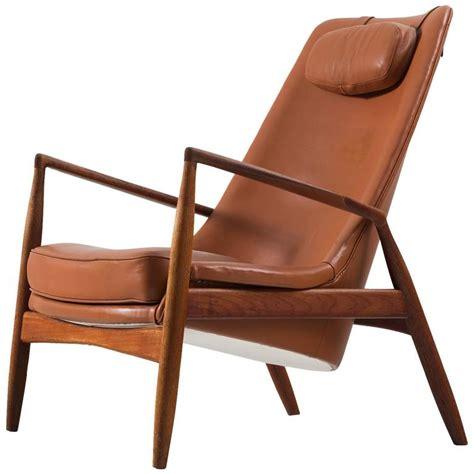 ib kofod larsen seal high back lounge chair in cognac