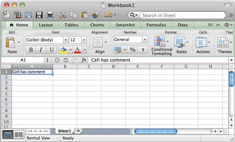 Spreadsheet For Imac by Ms Excel 2011 For Mac Display Comment Indicator Next To