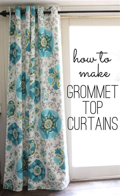 how to sew grommet curtains with lining diy curtains diy grommet top curtains house