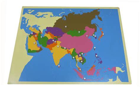 asia map puzzle asia puzzle map with paper maps montessori materials