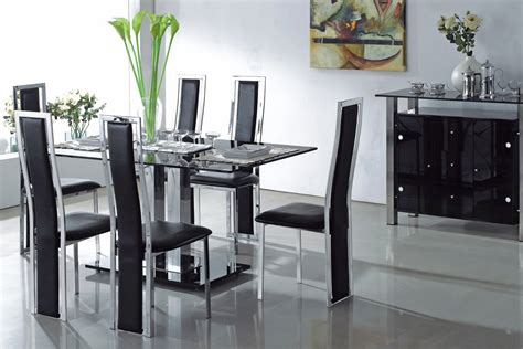 Gorgeous Black And Silver Dining Room Set Designs Pictures Black And Silver Dining Room Set