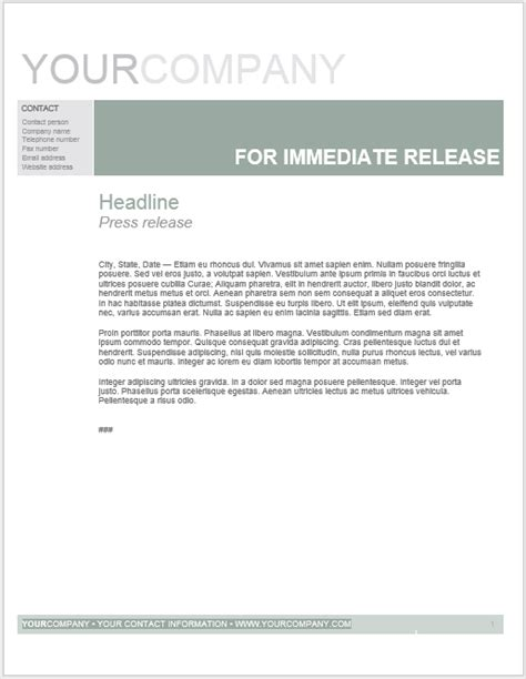 microsoft press release template press release template 15 free sles ms word docs