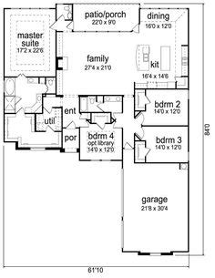 elegant one story home 6994 4 bedrooms and 2 5 baths single story open floor plans one story 3 bedroom 2
