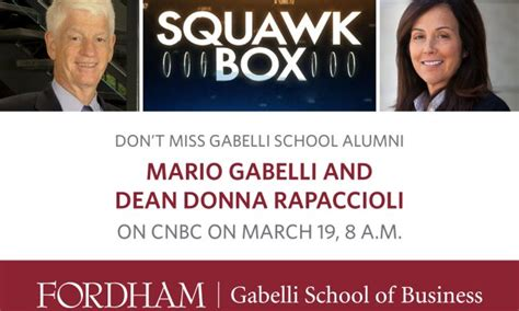 Gabelli School Of Business Mba by Cnbc Archives 187 Gabelli Connect