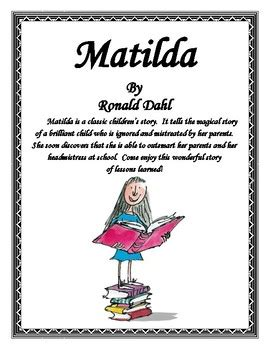 matilda book report matilda a book report and lapbook project by finch tpt