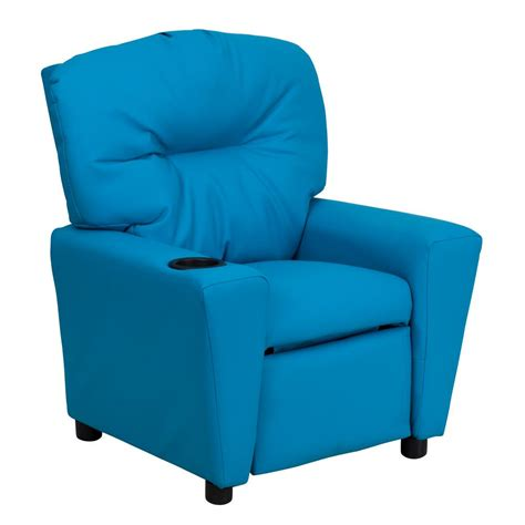 vinyl recliner chairs flash furniture contemporary turquoise vinyl kids recliner
