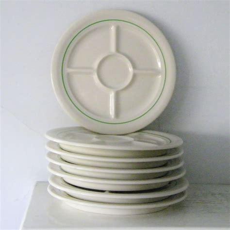 sectioned plates 7 mint vintage divided fondue plates shenango china