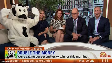 Channel 9 Today Show Cash Giveaway - sunrise s cash cow sees another viewer answer with i wake