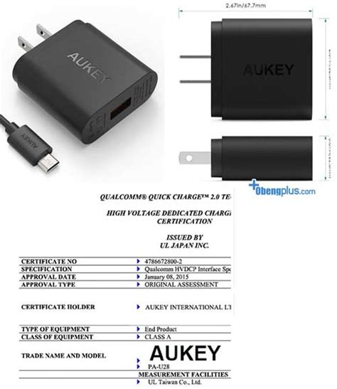 Charger Aukey Charger 30 18w Smart Fast Charging Qualcomm aukey charger 2 0 18w mengisi baterai smartphone android
