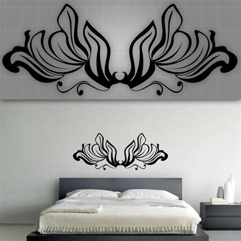 decorative headboards for beds decorative headboard wall decal bedroom wall decor 48