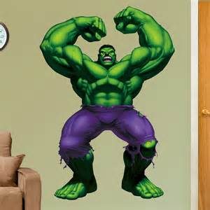 Hulk Wall Stickers Marvel Hulk Wall Decal Kids And Nursery Wall Art At