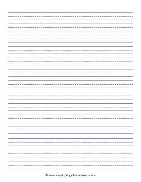 printable lined paper third grade 6 best images of second grade printable lined paper 2nd