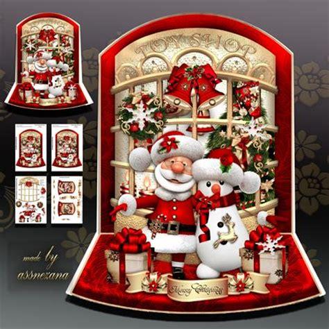christmas toy shop  santa claus  snowman cup craftsuprint