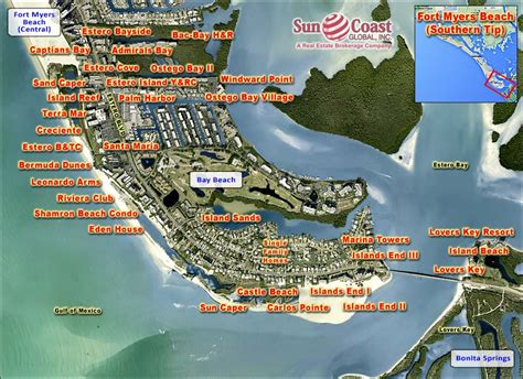 map of fort myers estero island yacht and racquet club at fort myers