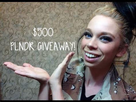 Grav3yardgirl Giveaway - 500 plndr giftcard giveaway youtube