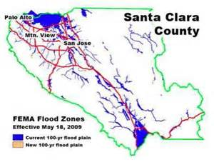 california flood zone map revised santa clara county flood maps the symon