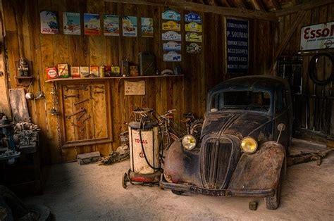 photo garage shop car fix hdr light