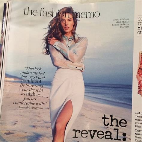 Alessandra Ambrosio Promotes Something Or Another by Alessandra Ambrosio Graces Another Mag The Week S Most