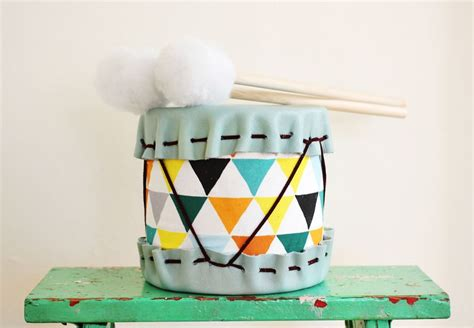 Handmade Drum - gift idea diy drums a beautiful mess
