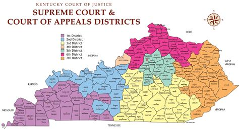 kentucky map county names commission narrows kentucky supreme court justice nominees