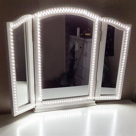 led vanity mirror lights kit amazon com houseables trifold vanity mirror 3 way 31 x