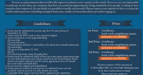desain poster ilmiah international essay competition 2012 quot ugm quot