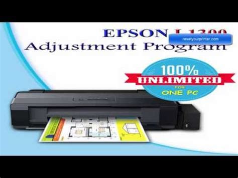 reset epson l1300 full full download reset epson l1300 by epson adjustment program