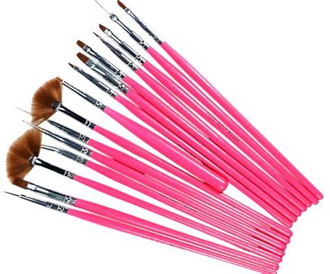 15 Kuas Nail Brush Pink 15pcs pink nail gel painting drawing dotting pen brush set l245 ebay