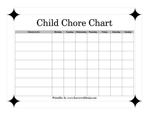 6 Best Images Of Printable Family Chore Charts Template Free Printable Family Chore Chart Printable Chore Chart Template