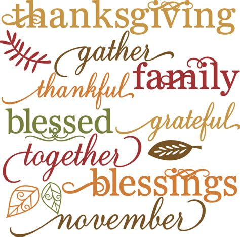 printable art for thanksgiving thanksgiving words set svg cut files for scrapbooking