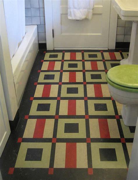 tom box hand cut linoleum inlay rug functional practical low