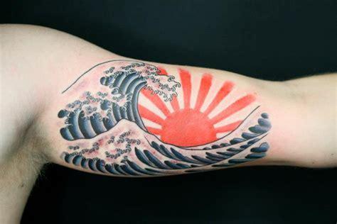 tattoo japanese sun japanese rising sun ditch tattoo wave tattoo by
