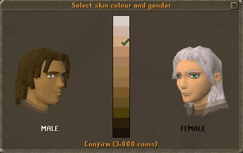 how to change your skin color changing your base appearance runescape guide runehq