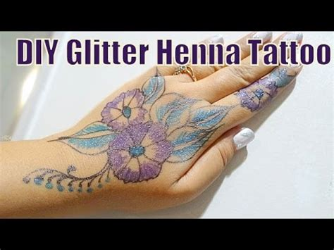 how to make colored henna tattoo diy glitter colored henna inspired mehndi