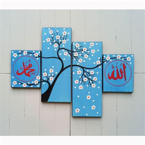 hiasan dinding lukisan bunga gambar kitan