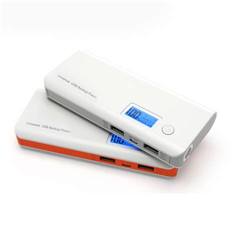 Powerbank Samsung 98 000mah power bank 20 000mah dual usb lcd display orange white
